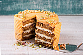Carrot cake with pistachios