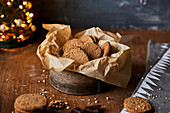 Winter cookies with walnuts