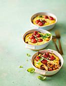 Brinjal and tomato pastitsio