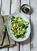 Oriental cucumber salad with wakame