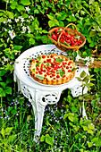 Wild strawberry tart with vanilla cream