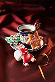 Christmas cookies with a teacup