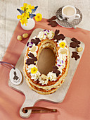 'Lettercake' Easter cake with mascarpone cream