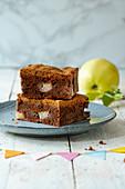 Apple Quince Brookie (Brownie with Cookie Crust)