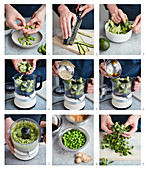 Prepare a green food bowl