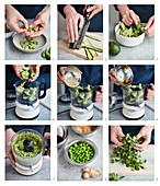 Grüne Bowl zubereiten