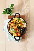 Kartoffel-Tortilla mit Paprika