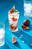 Fresh fig cocktail with mint