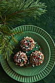 Christmas sprinkles chocolate cupcakes