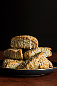 Lemon and poppy seed scones with glaze