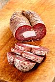 Soppressata di Gioi (Wurstspezialität aus dem Cilento, Italien)