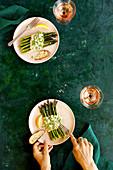 Roasted Asparagus with Fresh Pea Pesto
