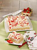 Spaghetti tray cake