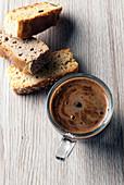 Espresso coffee with biscotti