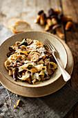 Tagliatelle with wild mushrooms (chestnut boletus)