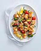 Chicken skewers with lemon and chilli