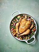 Spring one-pot roast chicken