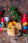 Honey cake for Christmas
