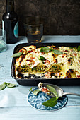 Vegetable crespelle with ricotta and parmesan cream