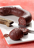 Mustardela (blood sausage from Piedmont, Italy)