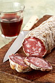 Salame di Varzi (salami specialty from Lombardy, Italy)