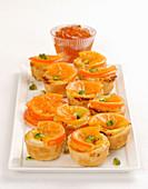 Tangerine cream tarts