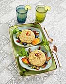 Quinoa-Pudding mit Obst