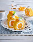 Sweet tangerine roll