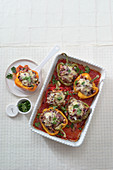 Stuffed peppers 'Tricolore'