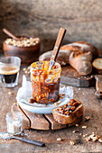 Salted caramel with peanuts