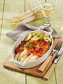 White asparagus with Maltese sauce