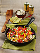 Mexican stir-fry vegetables with chicken