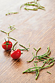 Cherry tomatoes and sea asparagus
