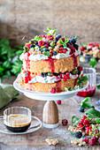 Berry vanilla mascarpone cake