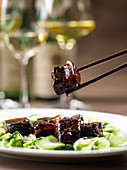 Red-braised Chinese pork belly