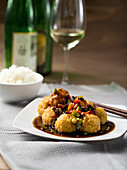 Sweet-and-sour Chinese tofu balls