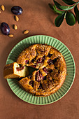 Sweet plum and almond pie