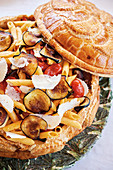 Pasta alla norma (pasta with aubergines and tomatoes)