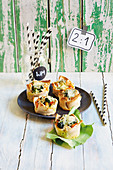 Mini toasted quiches (football evening)