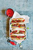 Cevapcici hot dogs (football evening)