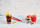 Cuba Libero und Wassermelonen-Margarita