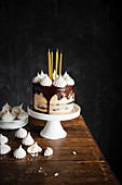 Chocolate caramel birthday cake