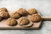 Gluten-free, broiche rolls made from buckwheat and amaranth