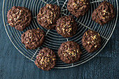Gluten-free chocolate and coconut biscuits