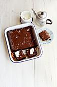 Griechischer Chocolatopita - Saftiger Schoko-Rührkuchen