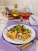 Turkey escalope in puff pastry