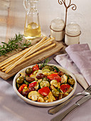 Oven-roasted ratatouille salad