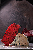 Rhubarb and berry fruit leather