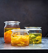Flavored citrus oils with oranges, lemons and limes