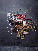 Beef Jerky - dehydrated meat with spices